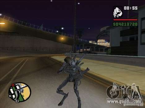 Alien Xenomorph for GTA San Andreas forth screenshot