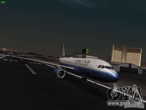 Airbus A319 United Airlines for GTA San Andreas