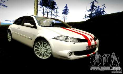 Renault Megane Coupe 2008 TR for GTA San Andreas back left view