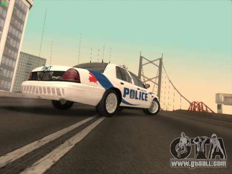 Ford Crown Victoria Vancouver Police for GTA San Andreas back left view