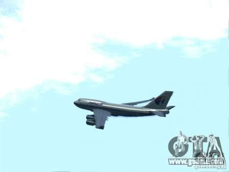 Boeing 747-400 Malaysia Airlines for GTA San Andreas left view