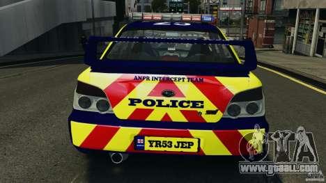 Subaru Impreza British ANPR [ELS] for GTA 4 engine