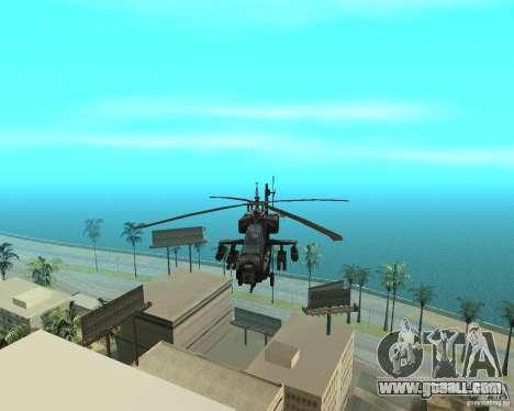 Ka-50 Black Shark for GTA San Andreas inner view