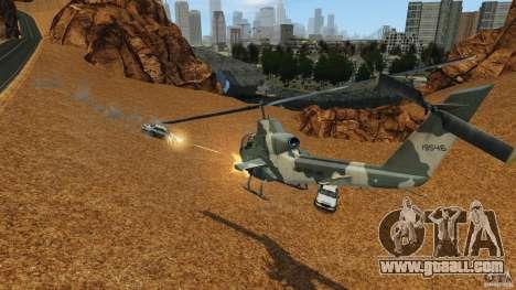 Bell AH-1 Cobra for GTA 4 inner view