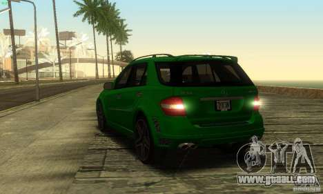 Mercedes-Benz ML63 AMG Brabus for GTA San Andreas inner view