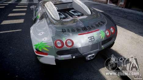 Bugatti Veyron 16.4 v1.0 new skin for GTA 4 bottom view
