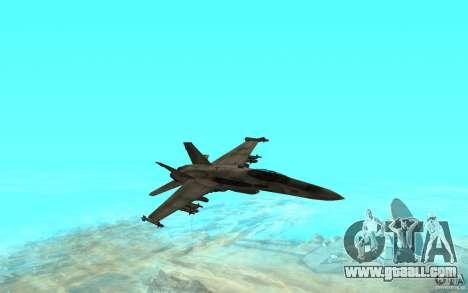 F-18 Hornet for GTA San Andreas