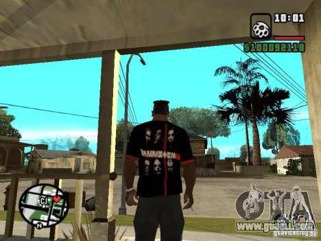Rammstein t-shirt v3 for GTA San Andreas