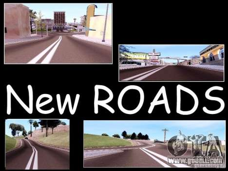 New Roads for GTA San Andreas