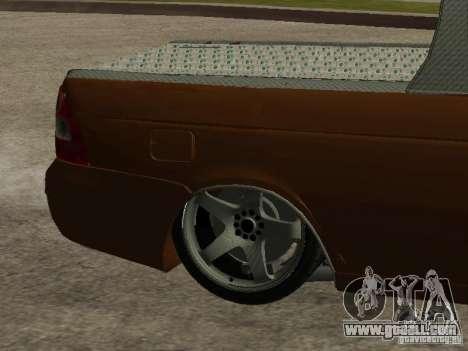 LADA 2170 Pickup for GTA San Andreas bottom view