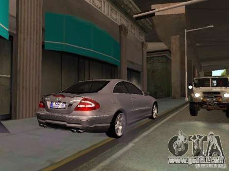 Mercedes-Benz CLK55 AMG for GTA San Andreas side view