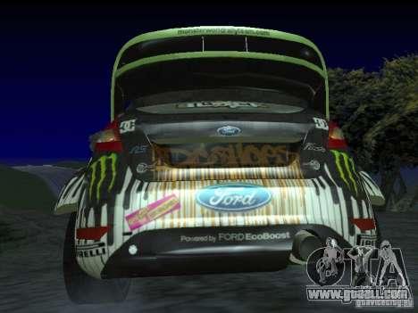 Ford Fiesta Ken Block WRC for GTA San Andreas back left view