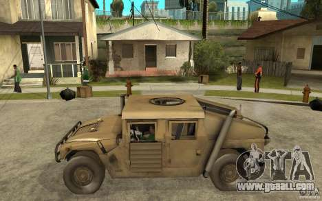 Hummer H1 War Edition for GTA San Andreas left view