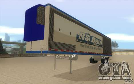 Trailer for Truck Optimus Prime for GTA San Andreas right view