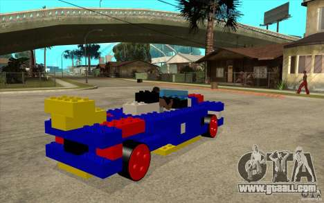 LEGO car for GTA San Andreas right view