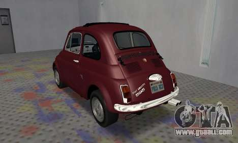 Fiat Abarth 595 SS 1968 for GTA San Andreas right view