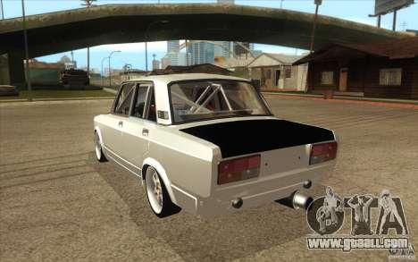 Vaz Lada 2107 Drift for GTA San Andreas back left view