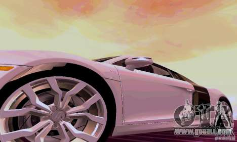 Audi R8 V10 5.2. FSI for GTA San Andreas back left view