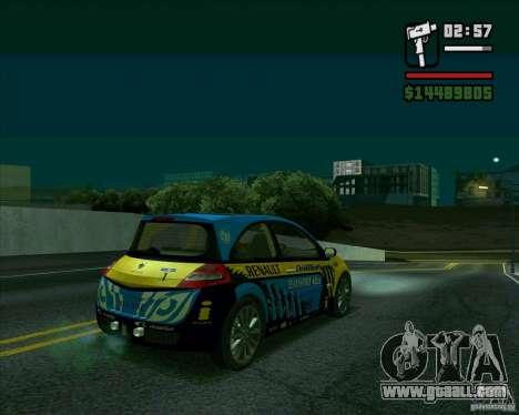 Renault Megane II RS for GTA San Andreas back left view