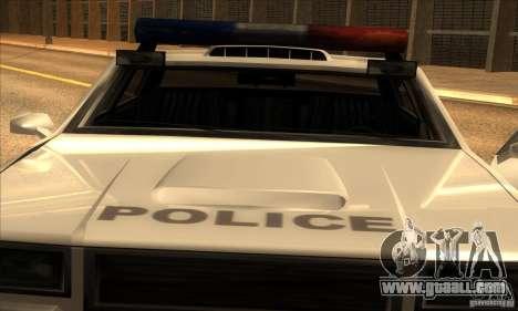 Police Hero v2.1 for GTA San Andreas back left view