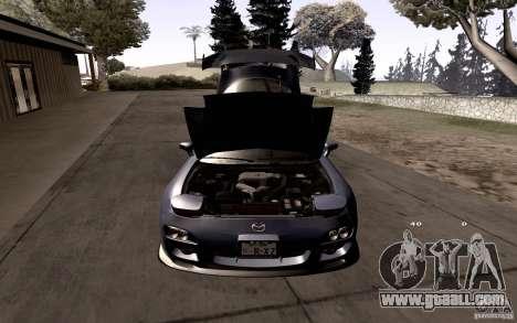 Mazda RX-7 Hellalush for GTA San Andreas interior