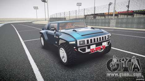 Hummer HX for GTA 4 back view