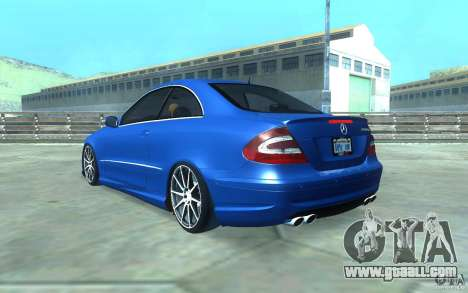 Mercedes-Benz CLK55 AMG for GTA San Andreas bottom view