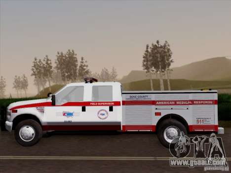 Ford F-350 AMR Supervisor for GTA San Andreas side view