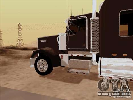 Kenworth W900 Long for GTA San Andreas back view