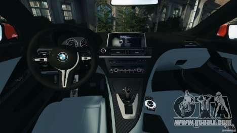 BMW M6 F13 2013 v1.0 for GTA 4 back view