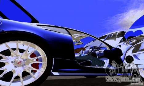 Jaguar XKRS for GTA San Andreas inner view