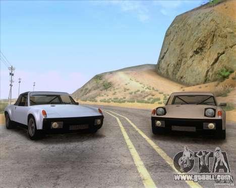 Porsche 914-6 for GTA San Andreas upper view