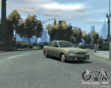 Vaz-2170 Lada Priora for GTA 4 back left view