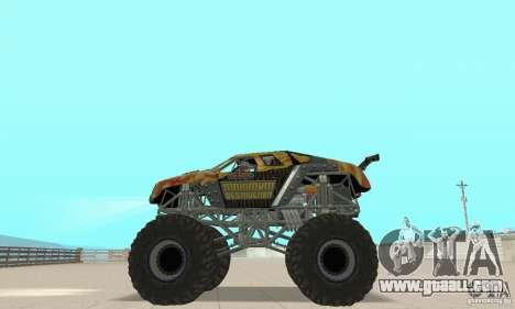 Monster Truck Maximum Destruction for GTA San Andreas right view