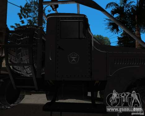 KrAZ 255 + trailer artict2 for GTA San Andreas back view