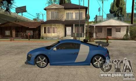 Audi R8 V10 v2 for GTA San Andreas left view