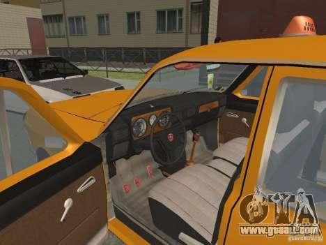GAZ 24-10 Volga Taxi for GTA San Andreas inner view