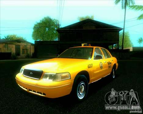 Ford Crown Victoria 2003 TAXI for GTA San Andreas back view