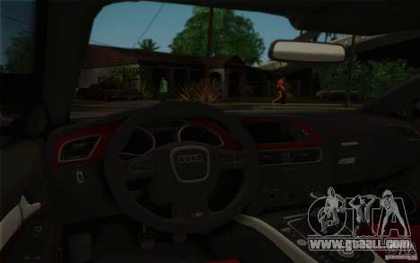 Audi S5 for GTA San Andreas bottom view