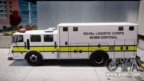 Royal Logistic Corps Bomb Disposal Truck for GTA 4 left view