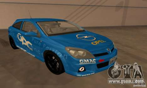 Opel Astra GTS for GTA San Andreas upper view