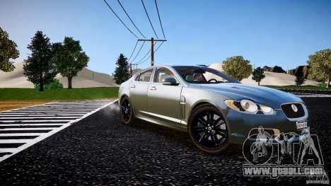 Jaguar XFR 2010 for GTA 4 right view