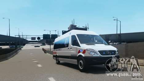 Mercedes-Benz Sprinter-Identification Criminelle for GTA 4 left view
