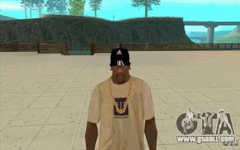 Adidas baseball cap-black for GTA San Andreas
