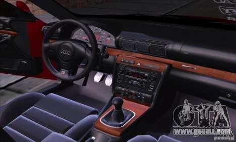 Audi S4 Light Tuning for GTA San Andreas inner view