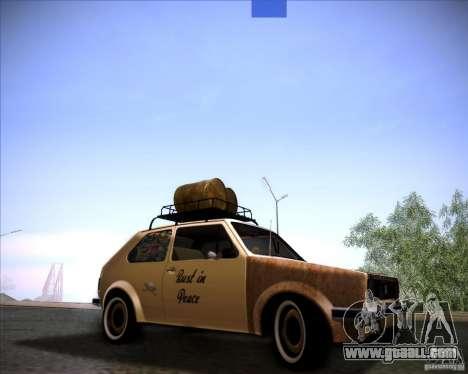Volkswagen Golf MK1 rat style for GTA San Andreas