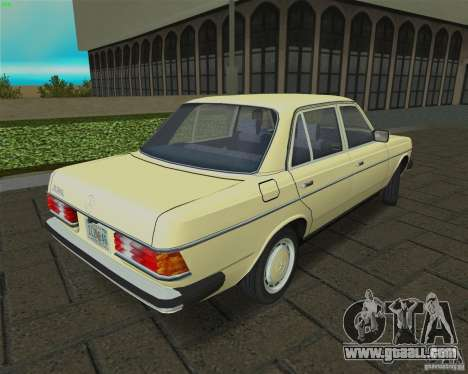 Mercedes-Benz 230 1976 for GTA Vice City right view