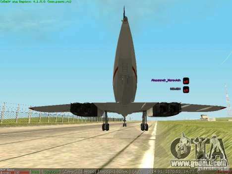 Concorde [FINAL VERSION] for GTA San Andreas back left view