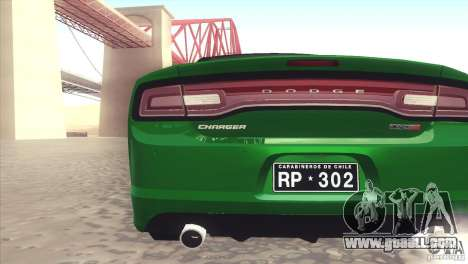 Dodge Charger SRT8 Carabineros for GTA San Andreas right view