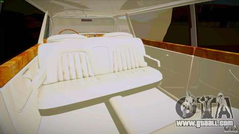Rolls-Royce Silver Spirit 1990 Limo for GTA San Andreas upper view
